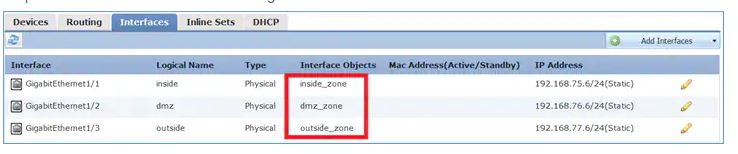 Cisco FTD Zone
